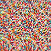 image of parallelepiped  - Seamless geometric pattern with bright color squares - JPG