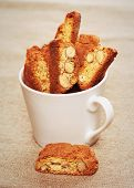 Cantuccini Cookies In A Coffee Cup