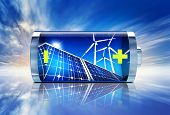 stock photo of accumulative  - high resolution 3D rendering of a alternative energy concept - JPG