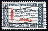Postage Stamp Usa 1960 Thomas Jefferson Quotation, Credo