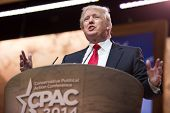 NATIONAL HARBOR, MD - MARCH 6, 2014: Donald Trump speaks at the Conservative Political Action Confer