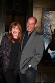 LOS ANGELES - MAR 4:  Lori Weintraub, Miguel Ferrer at the