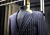 Suits on shop mannequins