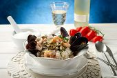 sea fruits risotto