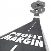 Profit Margin Words Road Money Net Income Going Up