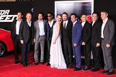 LOS ANGELES - MAR 6: Need for Speed cast at the premiere of DreamWorks Pictures' 'Need For Speed' at