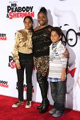 LOS ANGELES - MAR 5: Shar Jackson, children Kaleb and Kori at the premiere of 'Mr. Peabody & Sherman