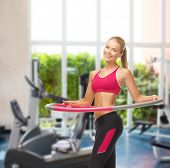 picture of hula hoop  - fitness ang gym concept  - JPG