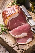 stock photo of flesh air  - smoked ham - JPG