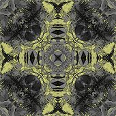 art nouveau ornamental vintage pattern in yellow and grey colors