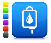 Blood Drip Icon on Square Internet Button Collection