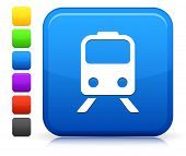 Subway Icon on Square Internet Button Collection
