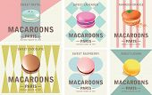 Tasty Colorful Vector Macaroon Elements