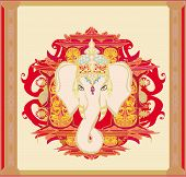 Creative Illustration Of Hindu Lord Ganesha