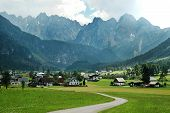 Village of Gosau under the Dachstein mountain range