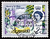 Postage Stamp Bermuda 1962 Church Of St. Peter