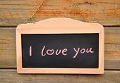 stock photo of heartfelt  - I Love You - JPG
