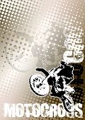 Motocross Brown Poster Background