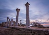 stock photo of crimea  - Ruins of ancient greek colony Khersones - JPG