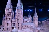Scale model of Hogwarts castle, Warner Bros studio, London