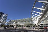Lisbon, Portugal - August 02, 2013: Gare do Oriente (Orient Station), a public transport hub designed by the famous architect Santiago Calatrava.
