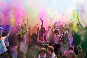 stock photo of holi  - Los Angeles California USA  - JPG