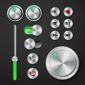 Metal interface buttons collection