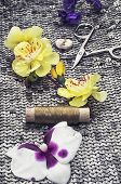 sewing tools and decorations