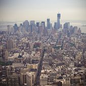Aerial View of Manhatten