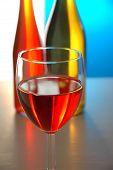 Wine Glass & 2 Bottles