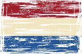 Dutch grunge flag. Vector illustration