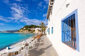 Moraira playa El Portet beach turquoise water in Teulada Alicante Spain