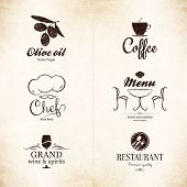 picture of victorian houses  - Label set for restaurant - JPG