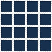White rope lattice on navy blue geometric seamless pattern, vector