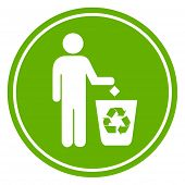 Recycle waste symbol