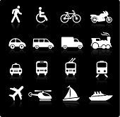 stock photo of transportation icons  - Original vector illustration - JPG
