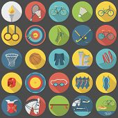 Summer Sports Flat Icon Set Part 2