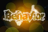 Behavior Word On Vintage Bokeh Background, Concept Sign