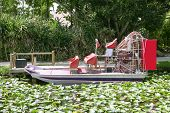 stock photo of airboat  - Everglades airboat in South Florida National Park - JPG