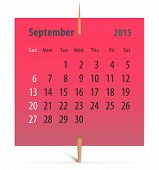 Calendar For September 2015