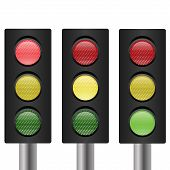 Set Of Traffic Light