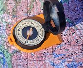 Compass Cast A Shadow On The Map