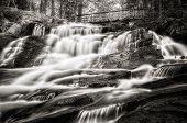 Waterfall And Bridge - Black And White