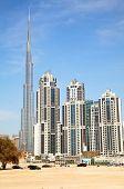DUBAI, UAE - APRIL 27: Downtown Burj Dubai April 27, 2014 in Dubai, United Arab Emirates. Dubai is b