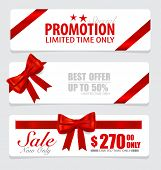 End of year sale savings labels set, price tag, sale coupon, voucher. Modern Style template Design v