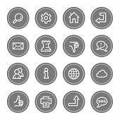 Web & internet icon set 2, grey circle buttons