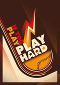 Modern design of baseball poster. Vector illustration.