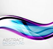 Wave absract layout design - business hi-tech futuristic conceptual backdrop, wallpaper, background