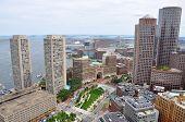 Boston Financial District Skyline, USA