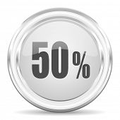 50 percent internet icon